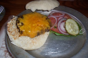 A 6-ounce bison burger